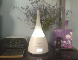 Saje diffuser at work